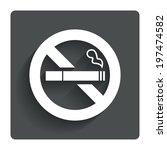 no smoking sign icon. quit...