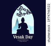 vector illustration of vesak...   Shutterstock .eps vector #1974746522