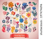 set of elegance flowers  ... | Shutterstock .eps vector #197474696