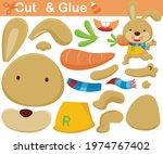 funny rabbit carrying big... | Shutterstock .eps vector #1974767402