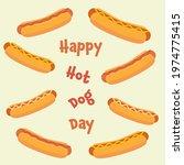 national hot dog day vector... | Shutterstock .eps vector #1974775415