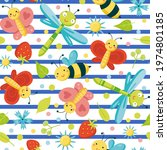 seamless repeat pattern with... | Shutterstock .eps vector #1974801185