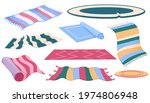 set of carpets or rugs of... | Shutterstock .eps vector #1974806948