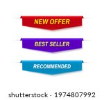 set of color sale banners...   Shutterstock .eps vector #1974807992