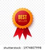 best seller realistic 3d red...   Shutterstock .eps vector #1974807998