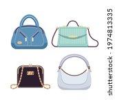 ladies bags. handbags women... | Shutterstock .eps vector #1974813335