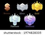 game rank reward star  gold ... | Shutterstock .eps vector #1974828335