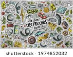 colorful vector hand drawn...   Shutterstock .eps vector #1974852032