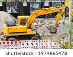A Heavy Construction Excavator...