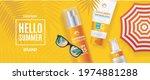 hello summer concept banner... | Shutterstock .eps vector #1974881288