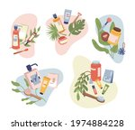 set of beauty organic natural... | Shutterstock .eps vector #1974884228