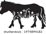 pony  and flowers vector icon | Shutterstock .eps vector #1974894182