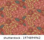 pansies flower on red...   Shutterstock .eps vector #1974894962