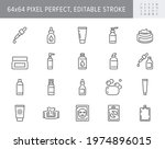 cleanser cosmetic line icons.... | Shutterstock .eps vector #1974896015