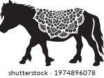 mandala pony vector icon ... | Shutterstock .eps vector #1974896078