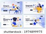 set of landing page design... | Shutterstock .eps vector #1974899975