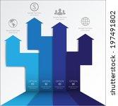 3d minimal infographics. vector | Shutterstock .eps vector #197491802
