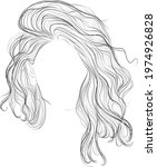 long wavy glamour hairstyle... | Shutterstock .eps vector #1974926828