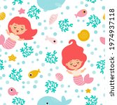 seamless pattern with mermaids  ... | Shutterstock .eps vector #1974937118