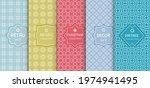 set of seamless line patterns ... | Shutterstock .eps vector #1974941495