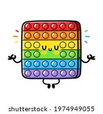 cute funny pop it fidget... | Shutterstock .eps vector #1974949055