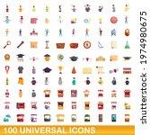 100 universal icons set.... | Shutterstock .eps vector #1974980675