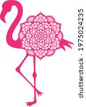 flamingo mandala icon vector... | Shutterstock .eps vector #1975024235
