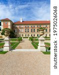 Small photo of Lancut, Poland - August 26, 2020: 16th century baroque Lancut Castle, former Polish magnate residence