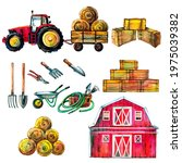 A Cute Tractor Set With A...
