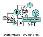 nft   non fungible token ...   Shutterstock .eps vector #1975041788