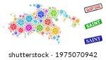 vector virulent collage saint... | Shutterstock .eps vector #1975070942