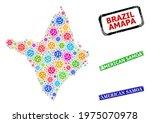 vector virulent collage amapa... | Shutterstock .eps vector #1975070978