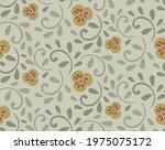 yellow pansies and green leaves ...   Shutterstock .eps vector #1975075172