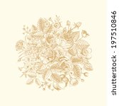 vintage floral vector bouquet... | Shutterstock .eps vector #197510846