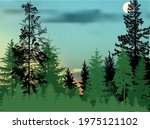 illustration with fir trees... | Shutterstock .eps vector #1975121102