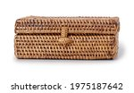 wicker jewelry box isolated on...   Shutterstock . vector #1975187642