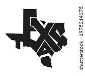 texas lettering vector... | Shutterstock .eps vector #1975214375