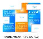 tri fold brochure template | Shutterstock .eps vector #197522762