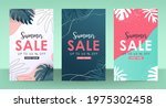 colorful summer sale layout... | Shutterstock .eps vector #1975302458
