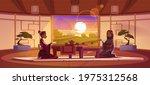 tea ceremony in dojo room ... | Shutterstock .eps vector #1975312568