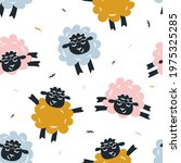 childish seamless pattern with... | Shutterstock .eps vector #1975325285