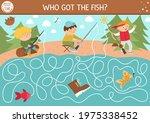 summer camp maze for children.... | Shutterstock .eps vector #1975338452