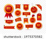 big collection of red price...   Shutterstock .eps vector #1975370582