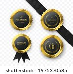 premium gold medals and badges. ...   Shutterstock .eps vector #1975370585