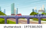 elevated road junction and... | Shutterstock .eps vector #1975381505