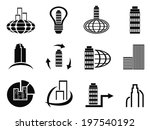 abstract company icons set | Shutterstock .eps vector #197540192