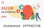 racism and discrimination...   Shutterstock .eps vector #1975407158