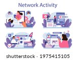 network activity set. customer...   Shutterstock .eps vector #1975415105
