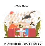 tv presenter concept.... | Shutterstock .eps vector #1975443662