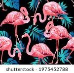 flamingo bird and tropical... | Shutterstock .eps vector #1975452788